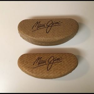 2 Maui Jim Clamshell Sunglass Cases